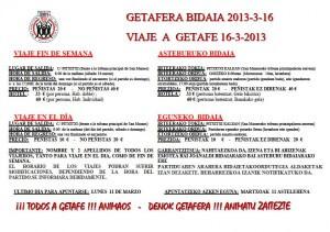 Viaje Getafe 2013