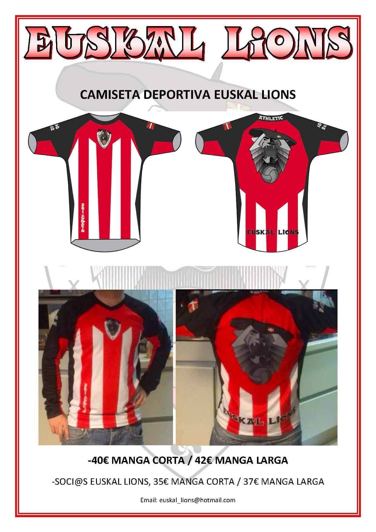 Camiseta Zurigorri Euskal Lions