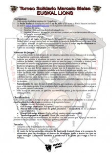 Reglas futbol 7 Euskal Lions