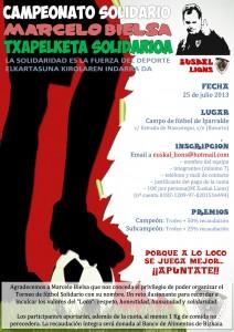 "Torneo Solidario Euskal Lions ""Marcelo Bielsa"""