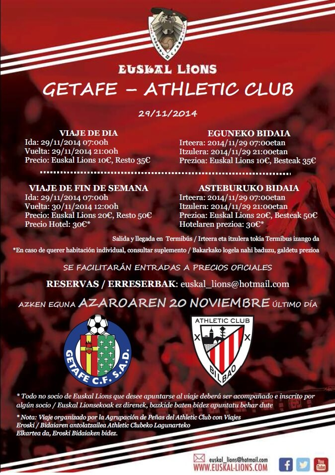 Getafe - Athletic 14/15