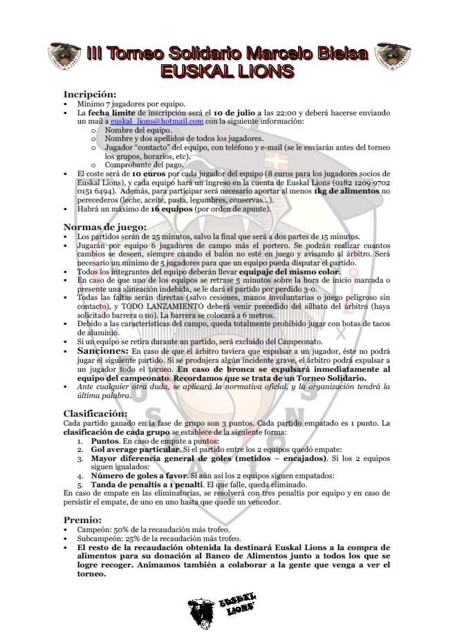 Reglas III Torneo