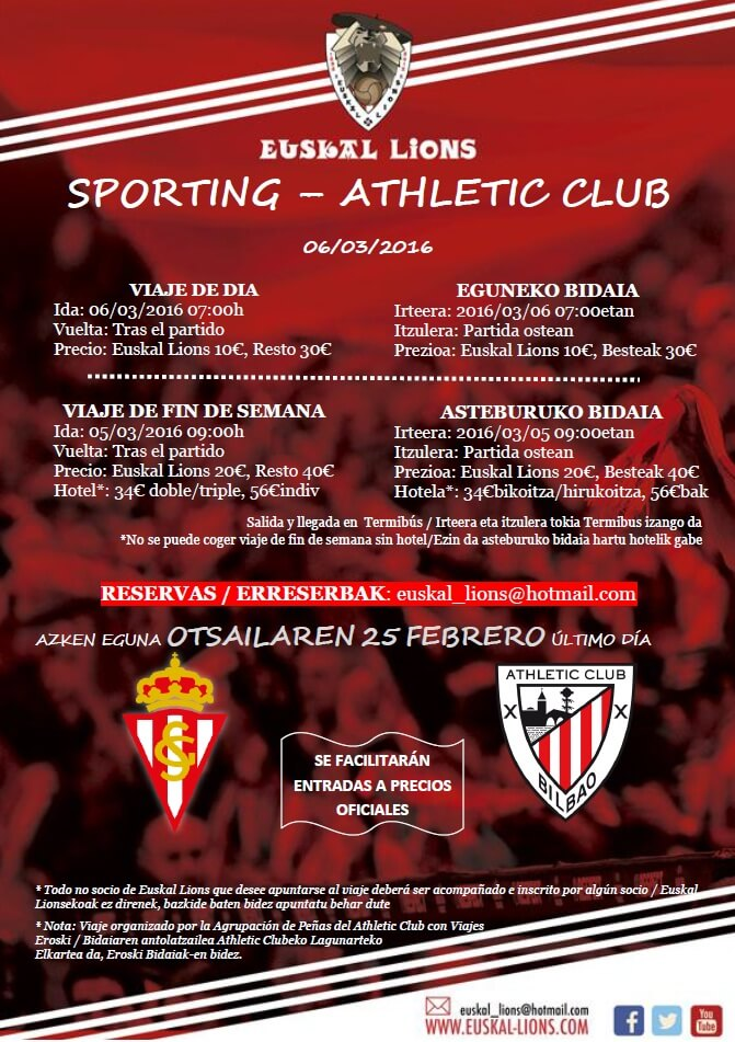 EUSKAL LIONS Sporting - Athletic 2016