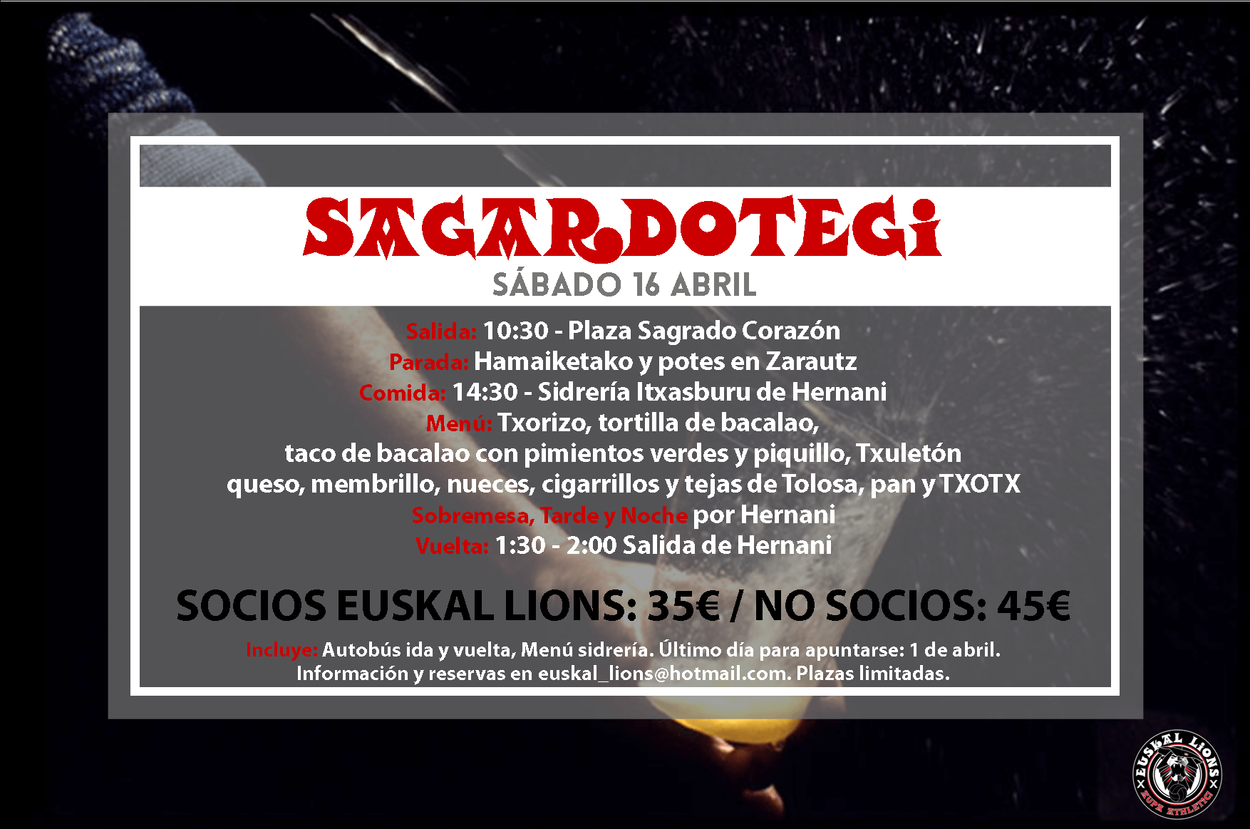 Sagardotegi 2016 Cartel