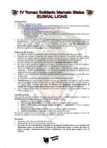 Reglas IV torneo solidario 'Marcelo Bielsa' Euskal Lions